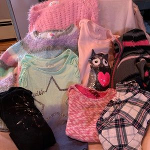 Bundle of size 10 Justice girls sweaters & tops